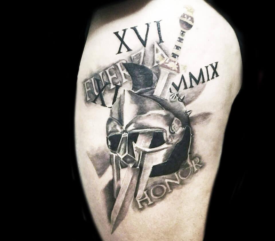 Gladiator Tattoo Spqr: Gladiator Tattoo By Andrea Morales