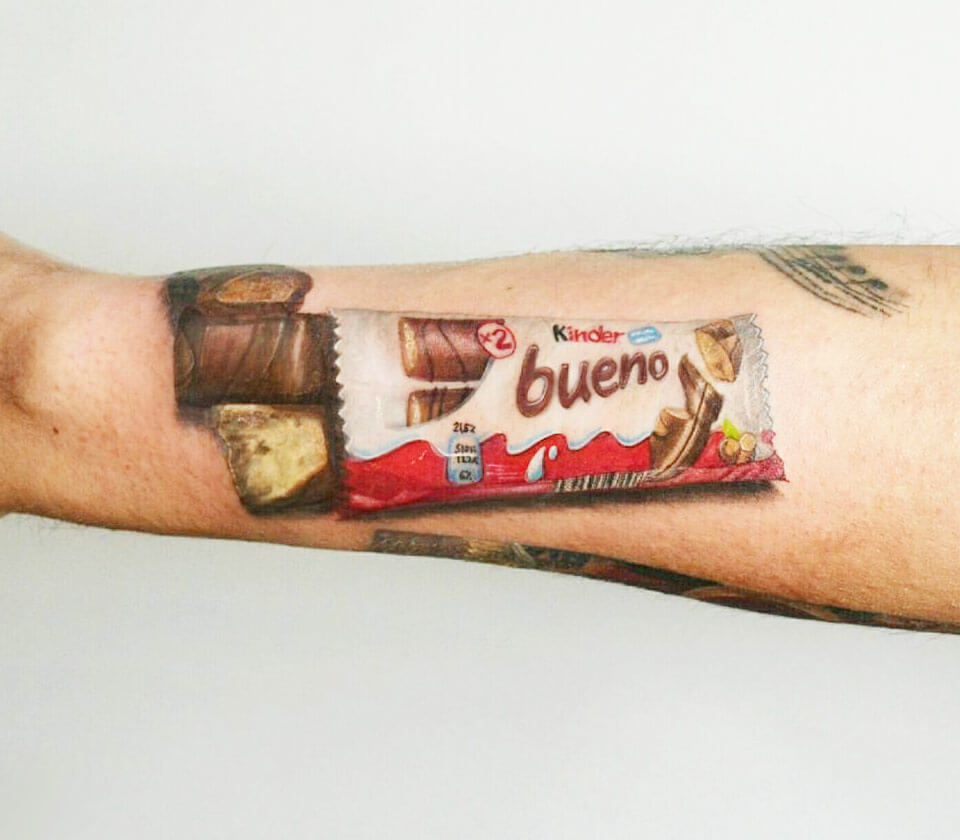 Kinder Bueno Tattoo By Andrea Morales Photo 17602
