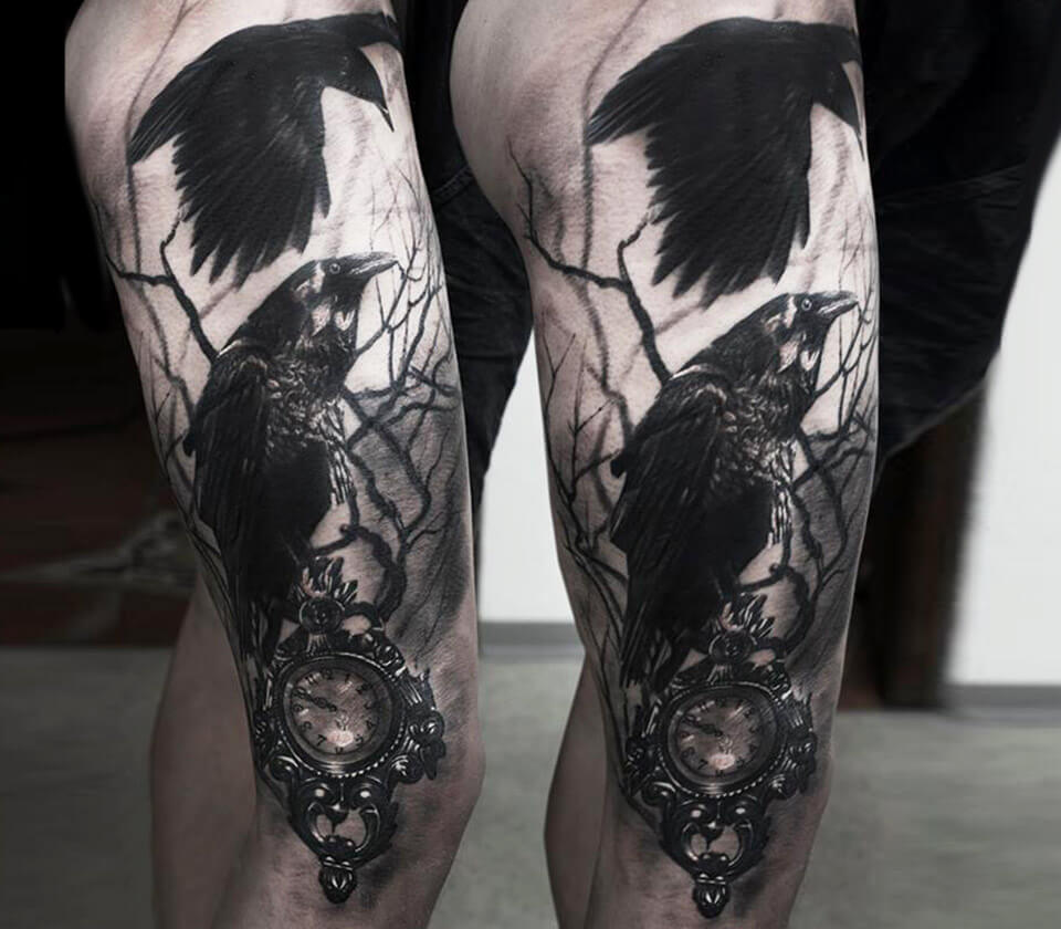 Crows tattoo by Andrey Kolbasin | Photo 14354