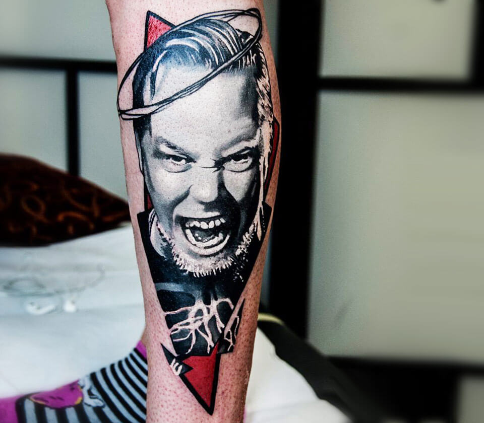 James Hetfield tattoo by Barbara Kiczek