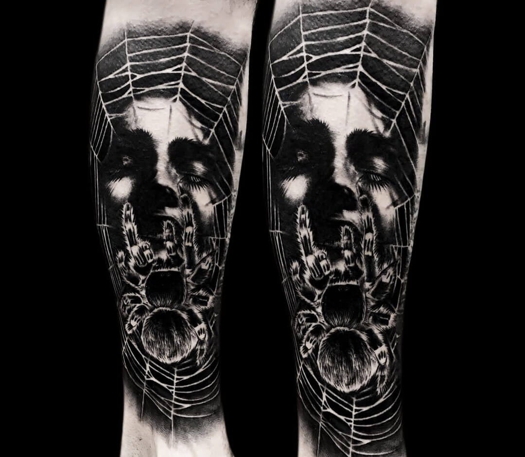 Spider tattoo by Benjamin Blvckout | Photo 27377