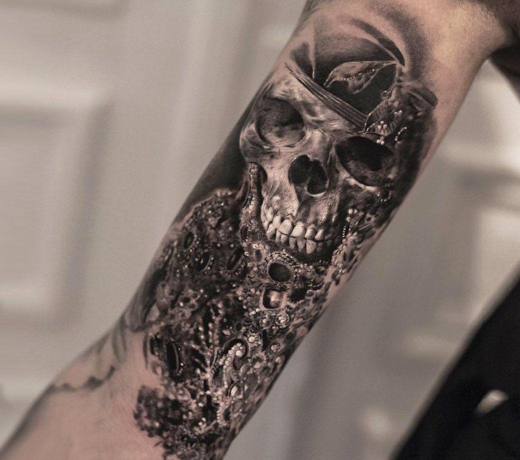 7e3844047 Skull tattoo by Bro Studio | Photo 18853