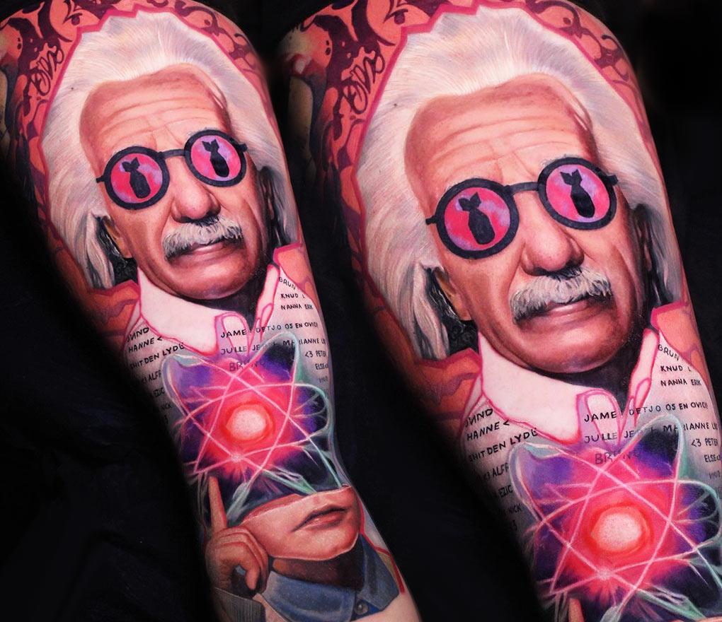 Albert Einstein Tattoo By Dave Paulo Photo 21875