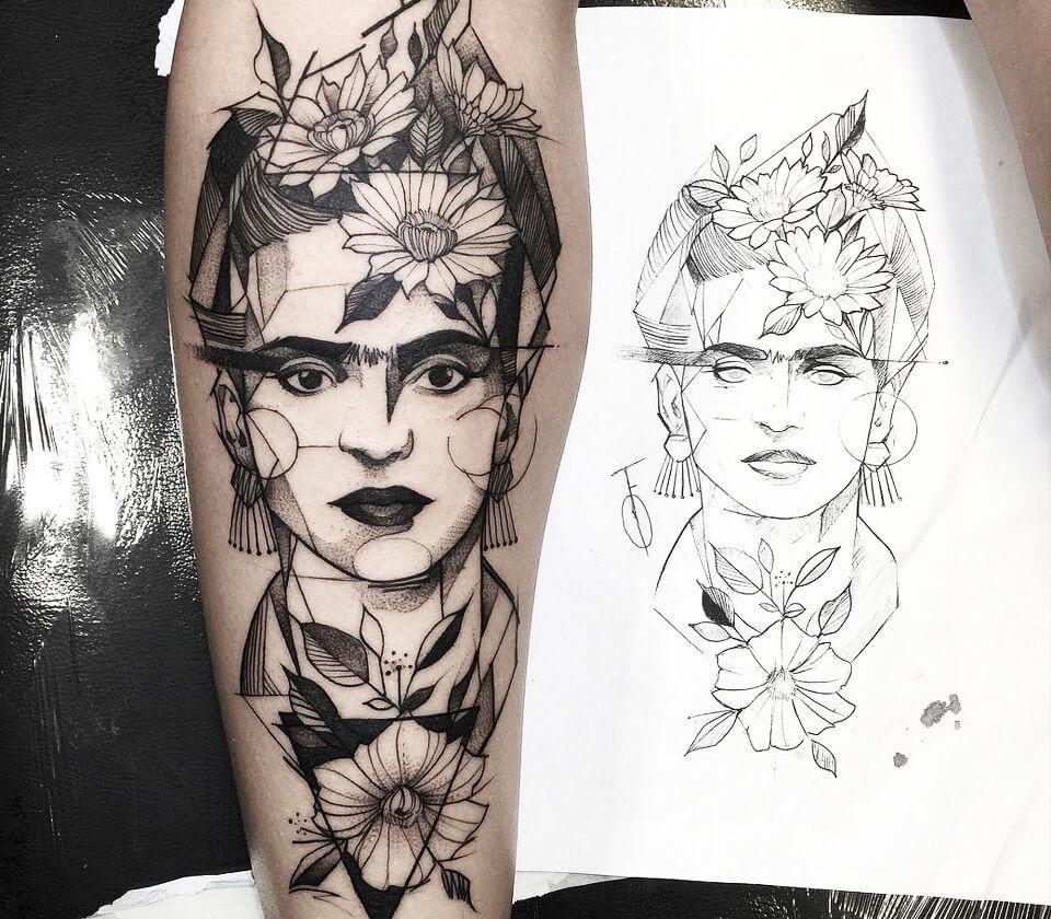 0959b3314 Frida Kahlo tattoo by Fredao Oliveira   Photo 14252