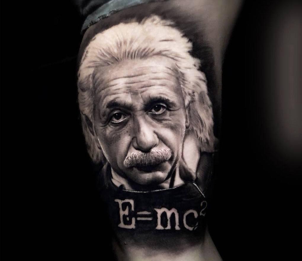 Albert Einstein Tattoo By Honart Photo 24638