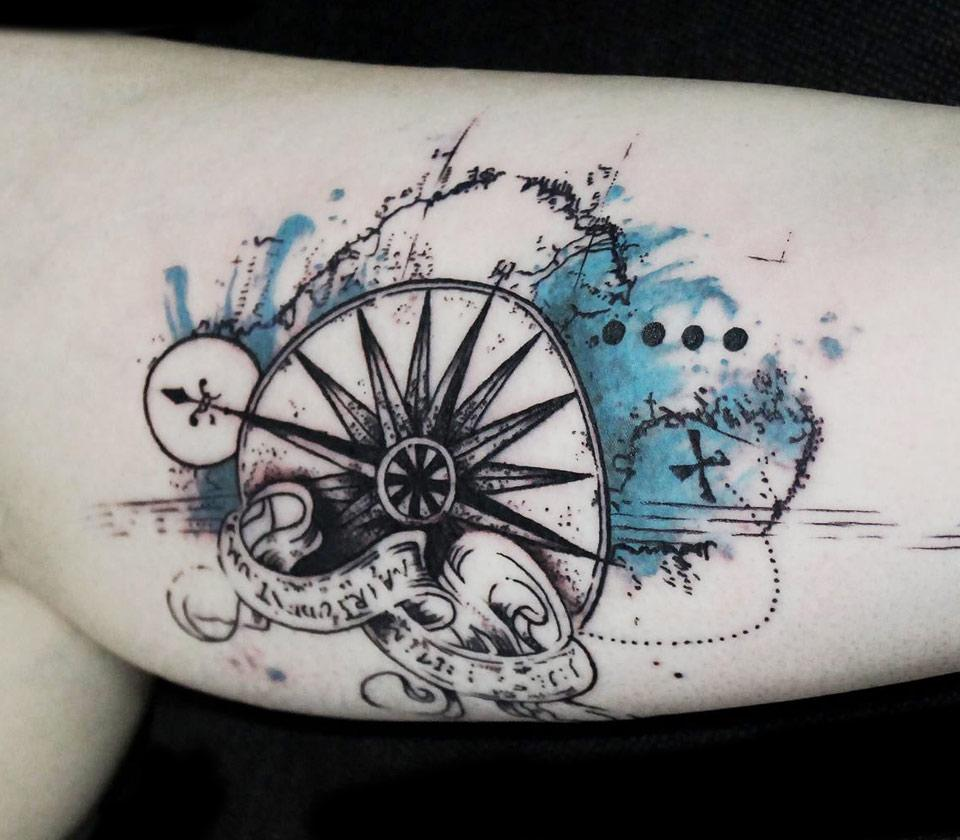 Compass tattoo by Koit Tattoo | Photo 17880