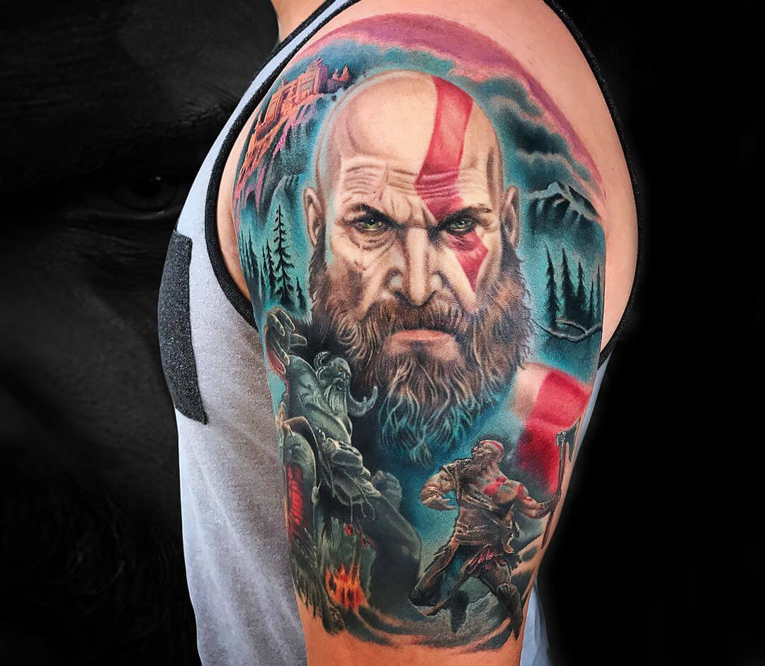 Kratos Tattoo By Marc Durrant Photo 28129