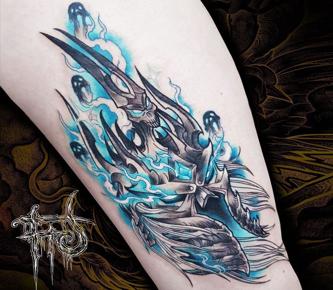 Arthas Menethil The Lich King Tattoo By Minh Luurangon