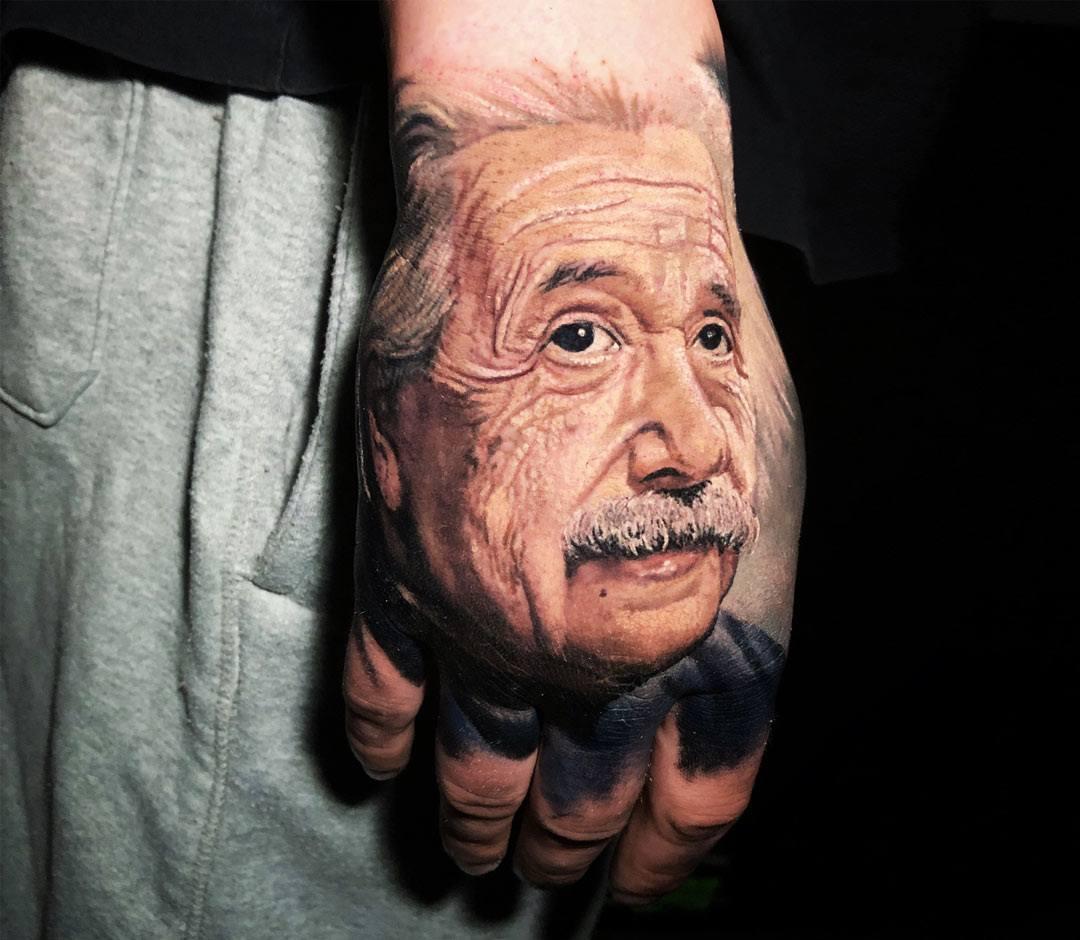 Albert Einstein Tattoo By Steve Butcher Photo 23162