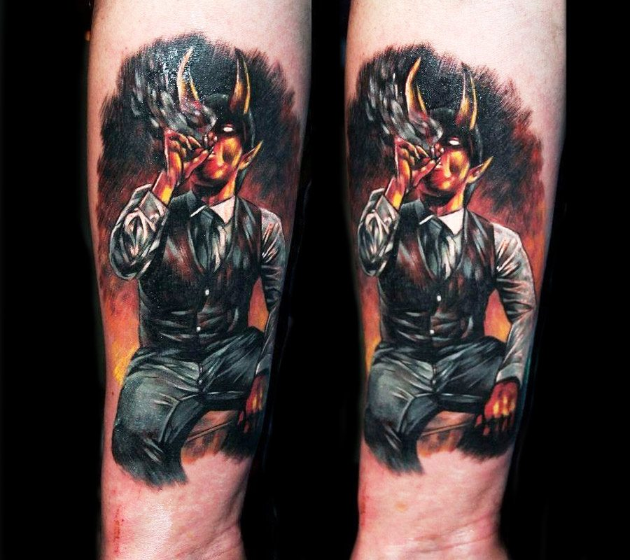 Devil Tattoo By Veronika Raubtier Photo 19215