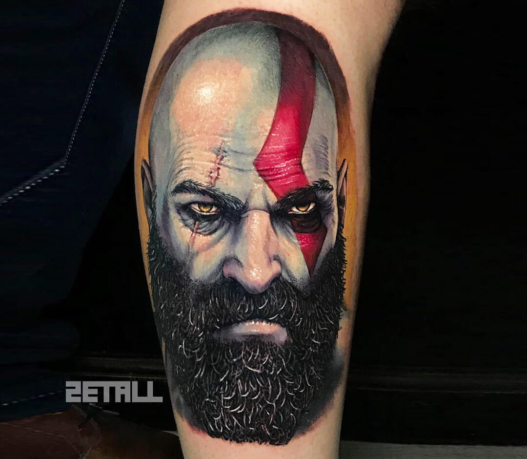 Kratos Tattoo By Victor Zetall Photo 27771
